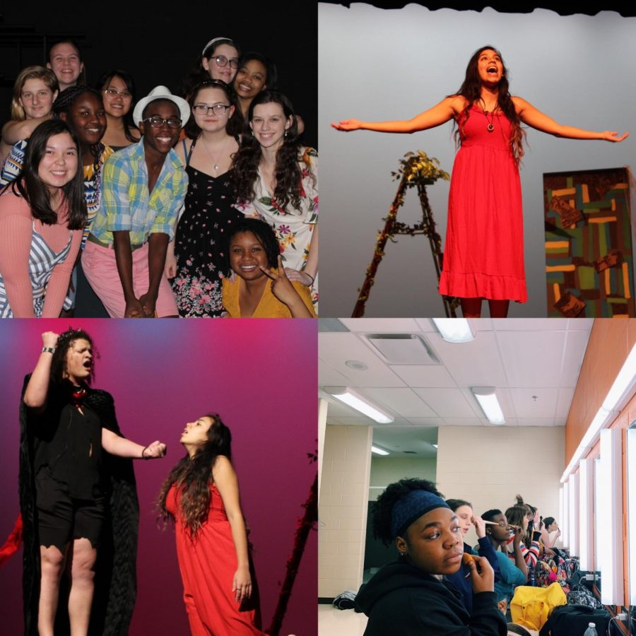 """The cast and crew of Once On This Island Jr. made memories that would last them a lifetime as they sang and danced out their hearts on stage this weekend. Practice truly did perfect this production, along with behind the scenes magic, including makeup and microphones. """"I am going to miss the environment that the theater creates so much when I graduate. It will be so sad to leave behind Mrs. Bryd, Mrs. Corcoran, and all of my friends,"""" senior Liz Mayorga said."""