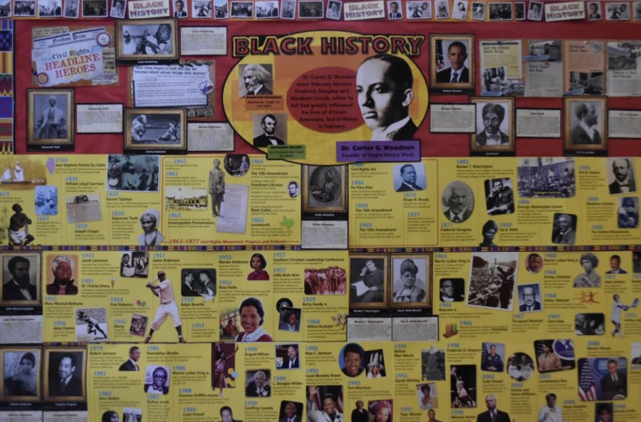 "Every February, educators at schools all over America try their best to squeeze black history lessons into their curriculum. At NC, this board placed at the front entrance of the school features a black history timeline, showcasing important African American figures like Sojourner Truth and Barack Obama. Despite this board and the 20-second black history facts shared over the intercom on the afternoon announcements, students (and perhaps adults too) still do not know about the courageous acts of countless ""forgotten figures"" in black history."