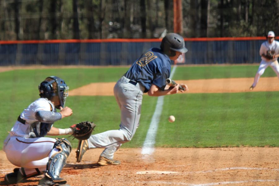 When the Wheeler batter aimed for a simple bunt, the NC Warrior baseball team worked together to limit Wheeler's successes to a single run. This ultimately led to a Warrior win in their long-awaited first home game of the season.