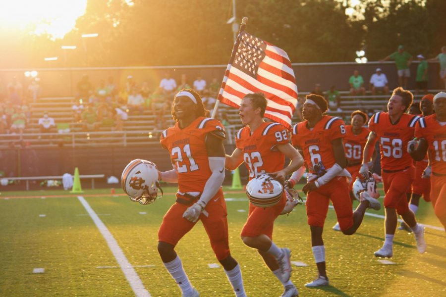 "Despite the odds, the NC varsity Warriors charged onto the field valiantly excited to honor their school and their peers. The Warriors overcame the Wolves while improving their skills in the first home game of the season by winning against one of the highest-ranked teams in Georgia. ""I am just really proud of our kids to come in here and play the way we did like that was very impressive. They are the winningest team in the last 20 years in the state of Georgia. They have lost 17 games in 17 years,"" Queen said."