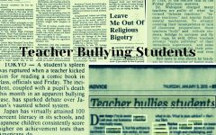 Bullying in all forms causes a number of disadvantages for both the student and the parent. When looking at teachers bullying students, the issue although not as prominent in comparison to regular bullying, strikes a concern among parents. The act coming in forms of physical abuse through corporal punishment and verbal abuse through rare occurrences continues to become an issue, rarely addressed within the media and news.