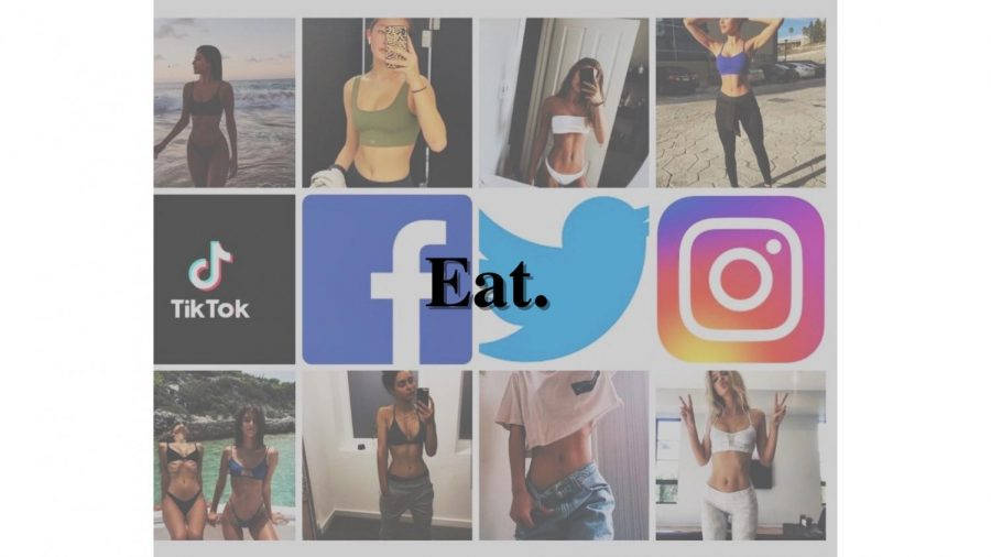 "While positive influencers exist on social media, the majority of the biggest platforms consist of size 0's, fitness trends, and harmful diets. The new age of social media continues to impact the younger generations by promoting a skinny ideal not always achievable by everybody. The lack of attainability of this perfect body type can cause harmful habits such as body checking, overexertion, and disordered eating. ""Social media has probably increased disordered eating because everyone is on social media. The problem is that it's in-your-face 24/7. Without social media you might have a day or a week to just be with yourself, to focus on your hobbies, to build resilience, to realize your value lies in connecting with family, with kindness, humor, art, schoolwork, creativity, etc. But now there is no break. The comparisons are relentless. The inner critic gets louder. The sense of inadequacy grows like wildfire. The need to diet spikes. The devastation of failure follows. Self-esteem sinks deeper,"" licensed nutritionist Betsy Thurston said."