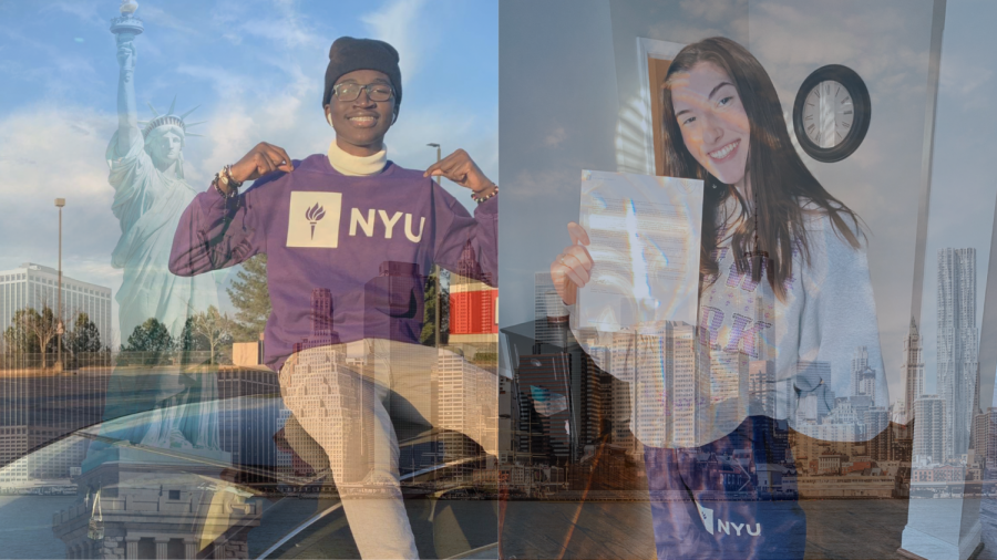 """After finding out that in a few short months Magnet seniors Galaye Seck and Abbey Corley will make the journey to New York City for, at least, the next four years of their lives, both students felt pure joy and excitement for this next chapter. """"The moment I found out I was accepted was one of the best feelings of my life. My mom and sister were on my side and it was a day of celebration for the whole family with lots of tears being shed,"""" said Seck."""