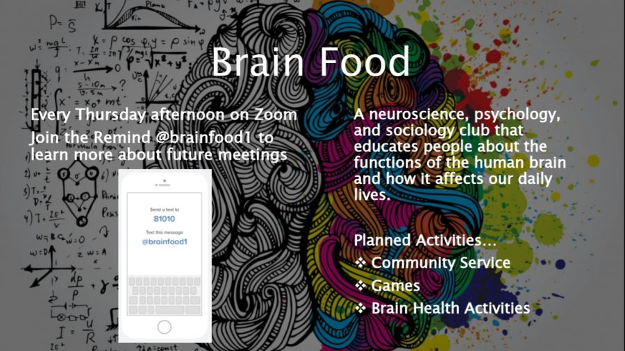 "As a new addition to NC's list of clubs, Brain Food functions as a behavioral science club. In the club, students explore topics under the psychology, sociology, and neuroscience fields. ""We want to empower North Cobb students to explore their passions in and out of the classroom by taking what they've learned from their psychology or sociology courses and apply that to the activities we do in our club,"" Brain Food founder, Magnet junior Ochuwa Garuba said."