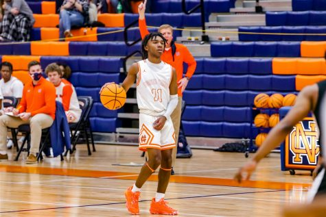 The NC Warrior varsity basketball team compiled a 10-13 record in the 2020-2021 season. Led by seniors Tyler Gorsuch, Jaiden Neville, Jared Dejesus, and Josiah Gooch, the Warriors expect to lose eight players due to graduation by the time next season rolls around. With a tough new region and unprecedented times, the Warriors look to combat these challenges with new underclassmen and veteran leadership.
