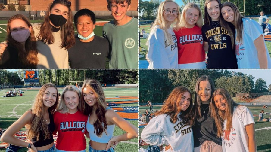 On Thursday May 7, the graduating class of 2021 gathered once more before their commencement ceremony at the end of the month. Treated with food, activities and a NC towel, the seniors laughed and talked on the field of Emory Sewell Stadium one last time.