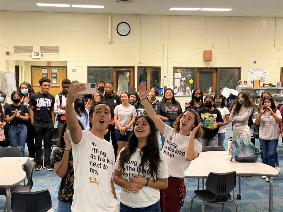 """The HoPe club meets once a month after school from 3:30 to 4:30, and the next  meeting will take place on September 3rd. To join HoPe, follow their Instagram  @northcobbhope or by remind @6bkhd9. The diverse and welcoming club allows both  members and non-members alike to come and experience the club. """"The first meeting was  great. I think we have a bright future ahead of us with countless new faces. I believe this  year will be our best year yet I cant wait to see all our members participate in all our  activities,"""" magnet senior Tatiana Cobos said."""
